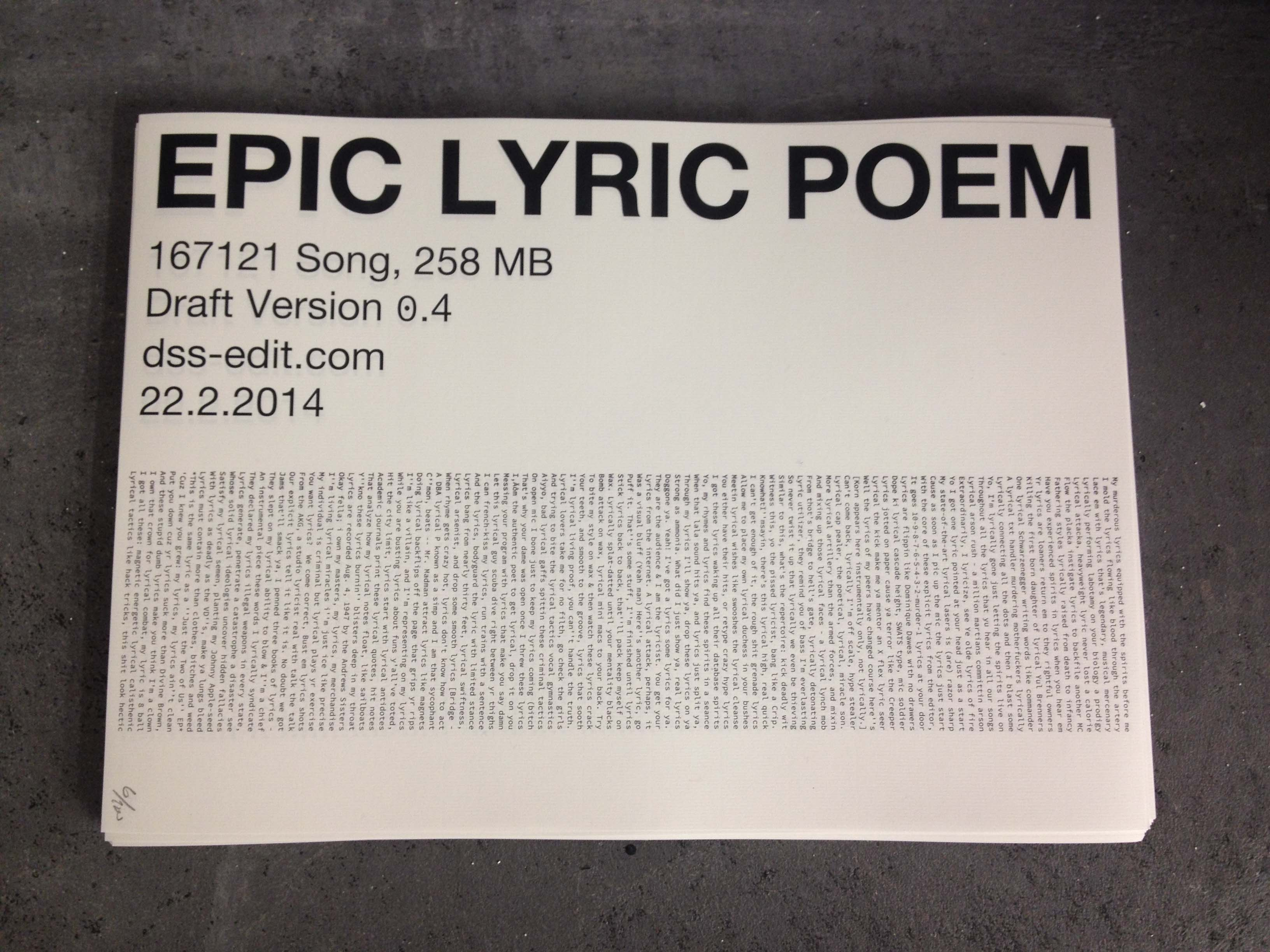 Epic Lyric Poem Poetry Will Be Made By All